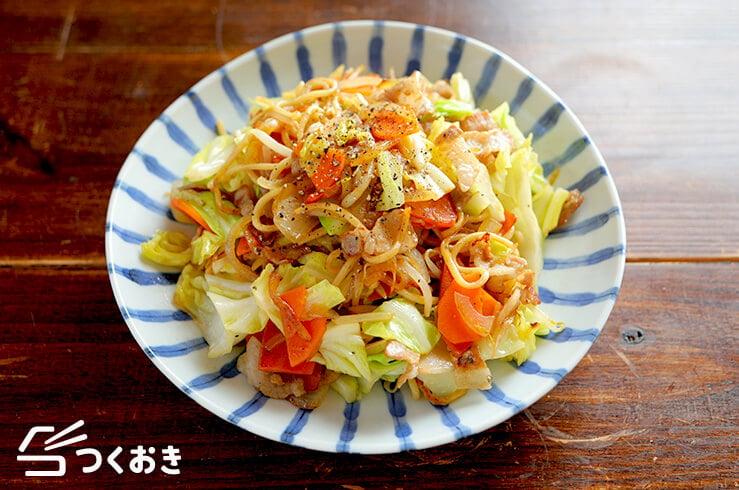 野菜たっぷり塩焼きそばの料理写真