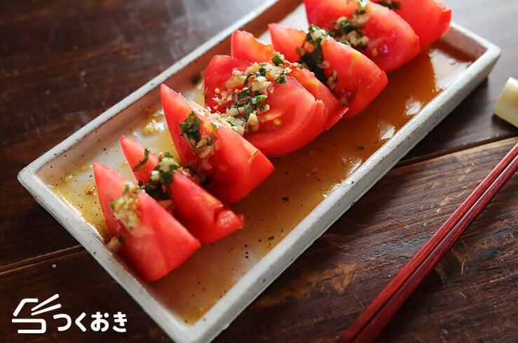 トマトの香味だれの料理写真