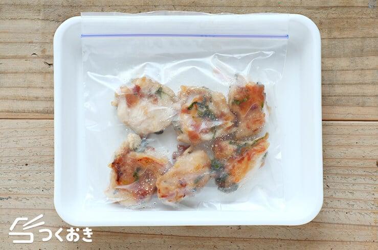 鶏むね肉の梅しそ焼きの冷凍写真