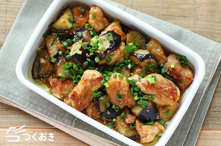 鶏肉となすのしょうが炒めの料理写真