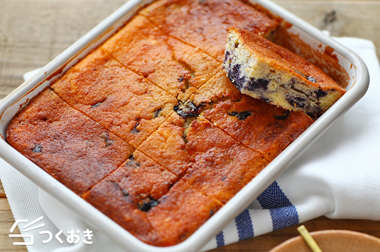 ヨーグルトブルーベリーケーキの完成写真