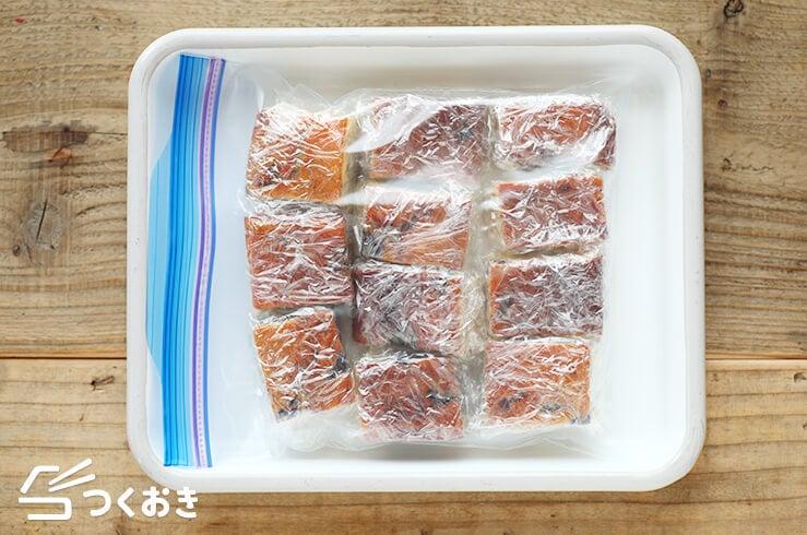 ヨーグルトブルーベリーケーキの冷凍写真