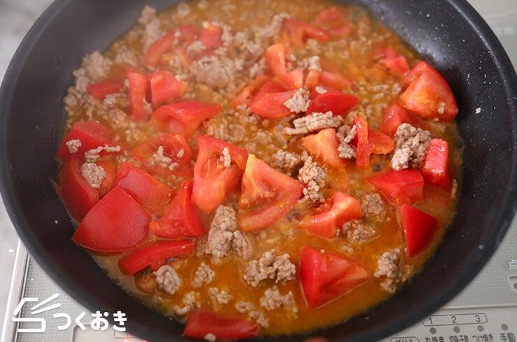 ひき肉となすのトマト煮の手順写真その3