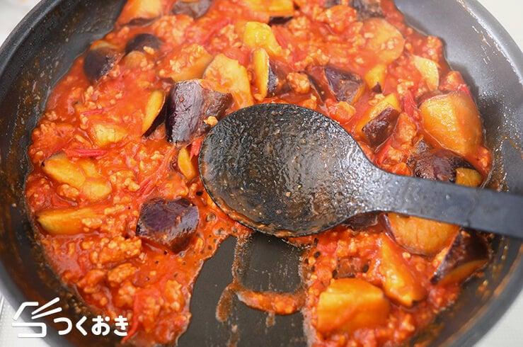 ひき肉となすのトマト煮の手順写真その4