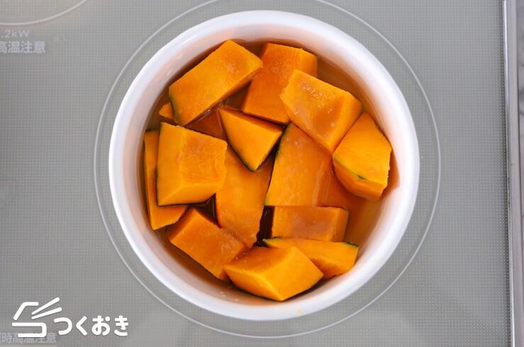 かぼちゃのだし煮の手順写真その1
