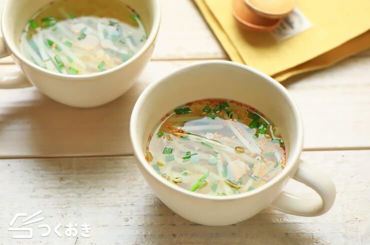 もやしの簡単ごまスープの料理写真