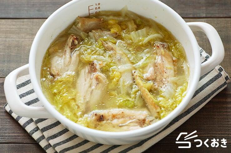 手羽先と白菜のパイタンスープの料理写真