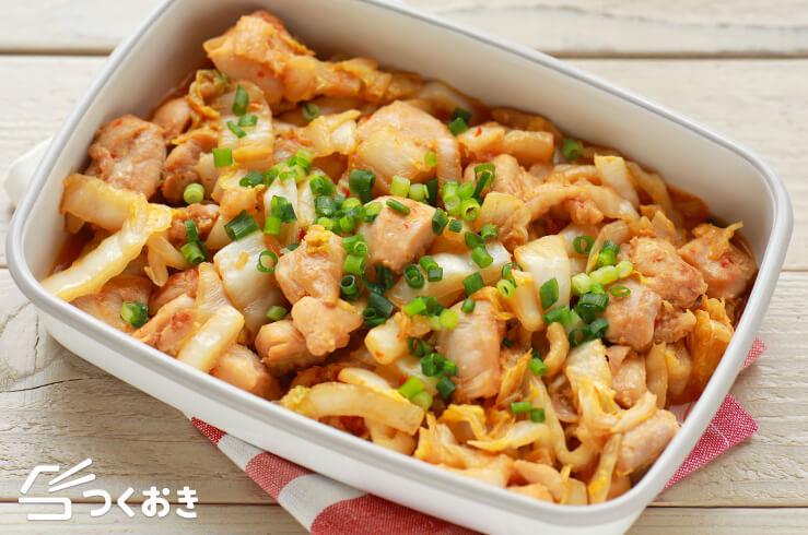 鶏肉と白菜のピリ辛みそ炒めの料理写真