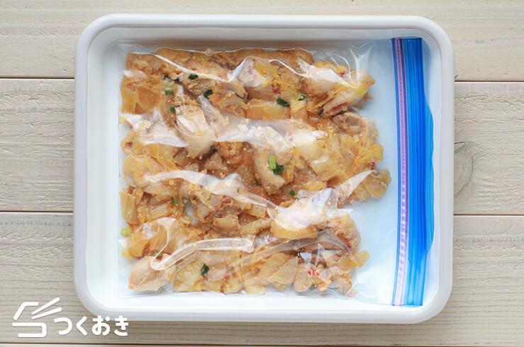 鶏肉と白菜のピリ辛みそ炒めの冷凍写真