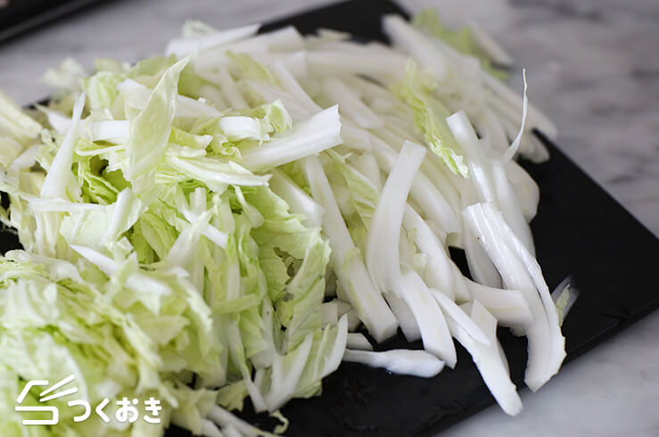 豚こまと白菜の中華風炒めの料理手順その1