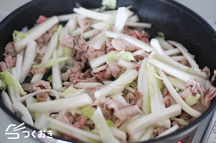 豚こまと白菜の中華風炒めの料理手順その2