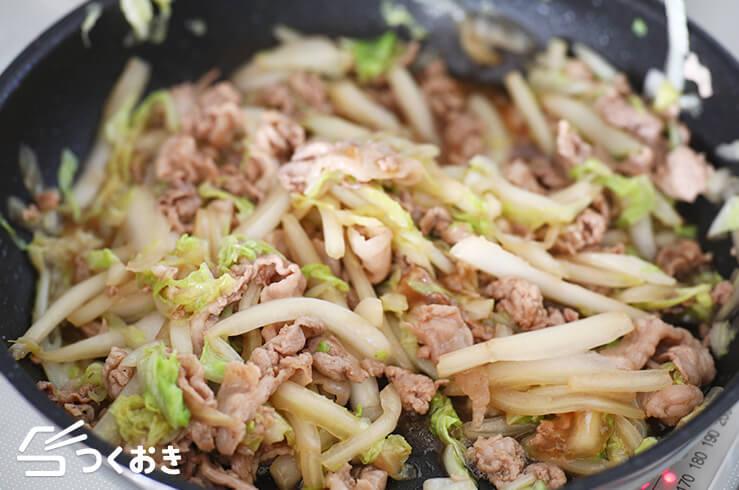 豚こまと白菜の中華風炒めの料理手順その4