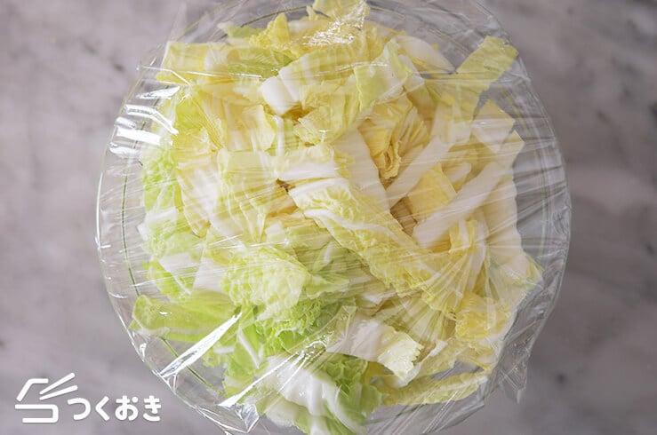 鮭と白菜のゆかりあんの手順写真その1