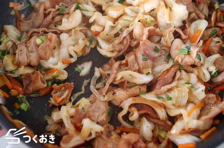豚バラキャベツのオイスター炒めの手順写真