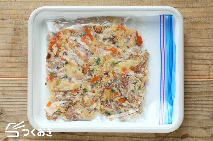豚バラキャベツのオイスター炒めの冷凍写真