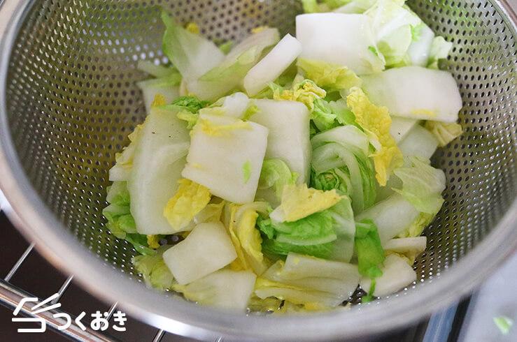 白菜の即席漬けの手順写真