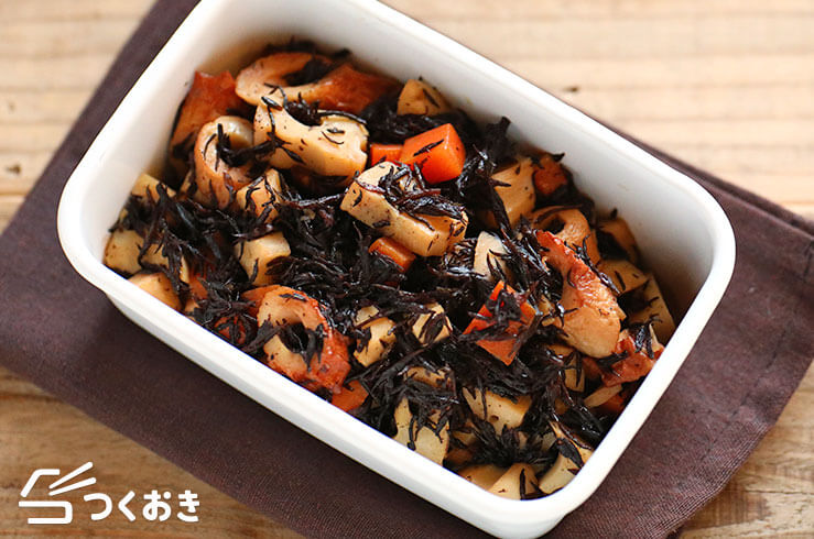 ひじきと根菜の甘辛煮の料理写真