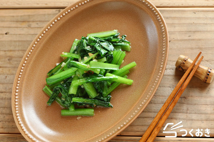 小松菜のさっと炒めの料理写真
