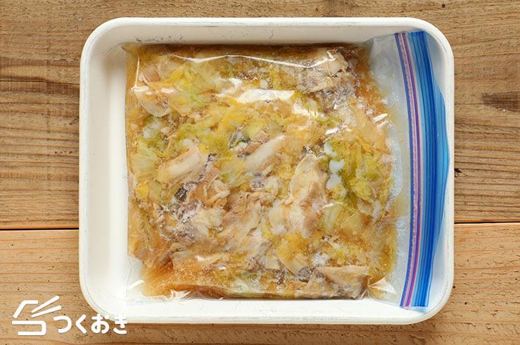 豚バラ肉と白菜のうま煮の冷凍写真