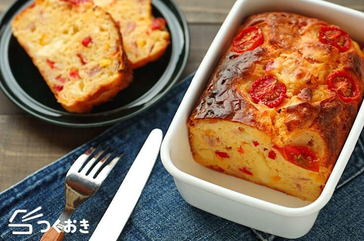 パプリカとチーズのケークサレの料理写真