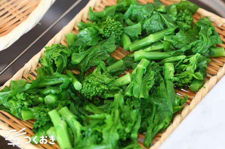 菜花のからしおひたしの料理手順その3