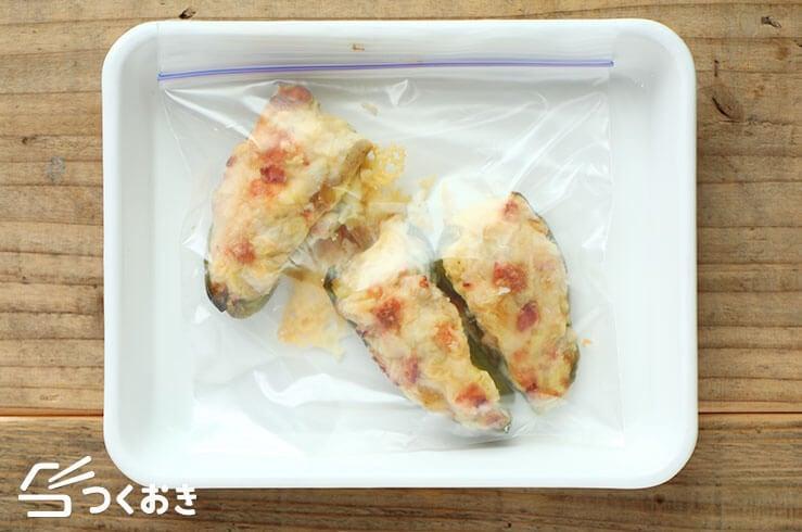 ピーマンのポテトチーズグラタンの冷凍写真