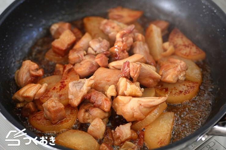 鶏肉と大根のバター醤油炒めの手順写真その3