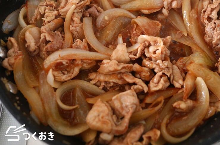 豚肉とたまねぎの中華風焼き肉の手順写真その2