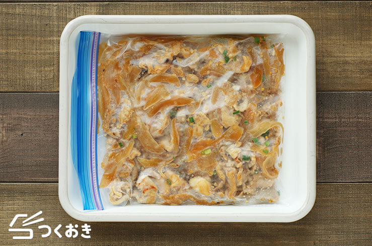 豚肉とたまねぎの中華風焼き肉の冷凍写真