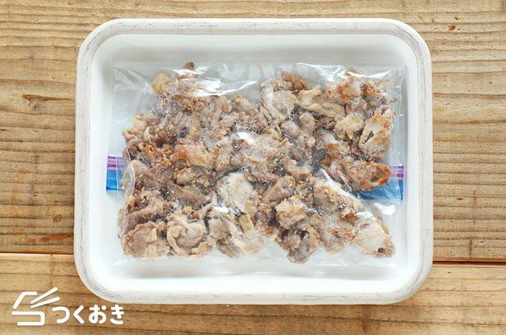 豚こまカリカリ焼きの冷凍写真