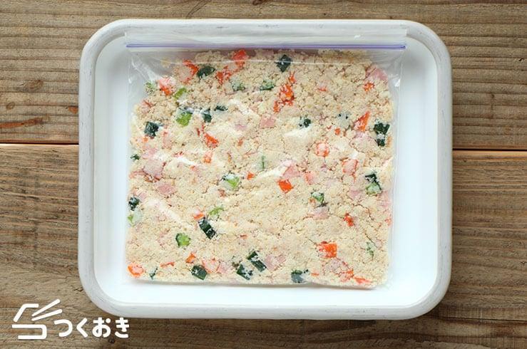 おからとハムのサラダの冷凍写真