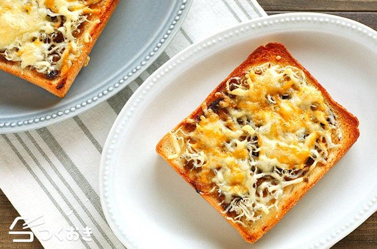 しらすのりチーズトーストの料理写真