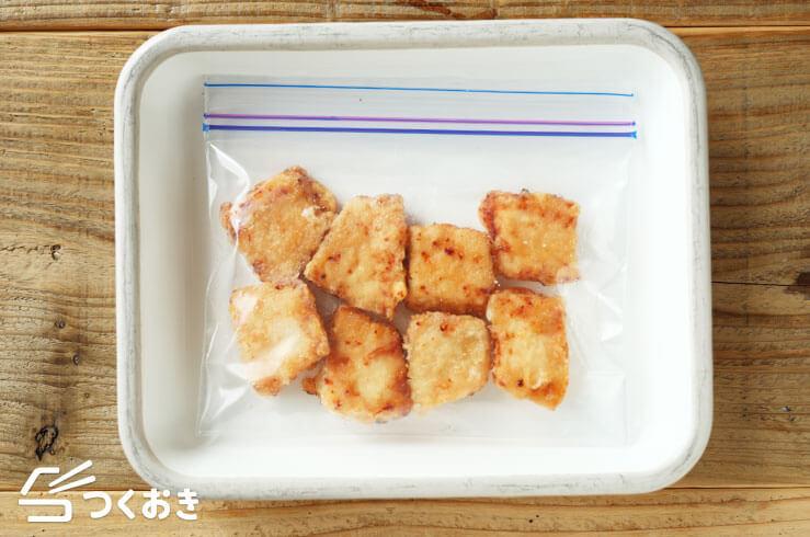 かじきの竜田揚げの冷凍写真