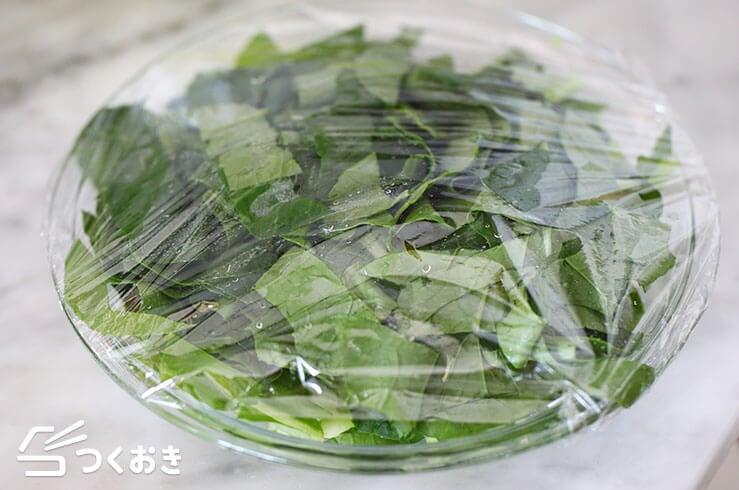 小松菜とちくわの甘辛炒めの手順写真その1