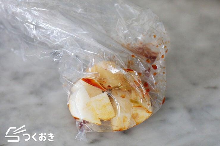 長芋のわさび醤油和えの手順写真その1