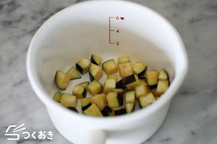 なすとオクラのみそ汁の手順写真その2