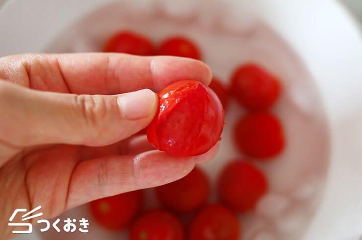 トマトのだし漬けの手順写真その3