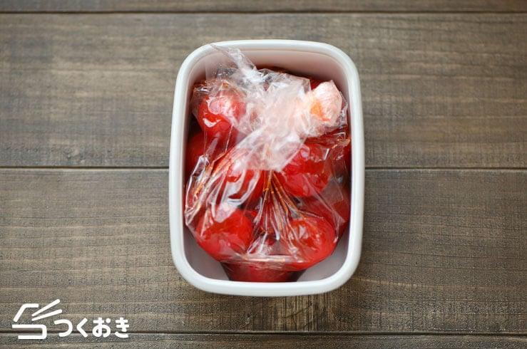 トマトのだし漬けの手順写真その4