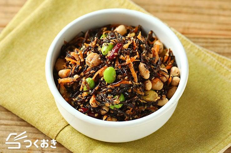 お豆とひじきの健康サラダの料理写真