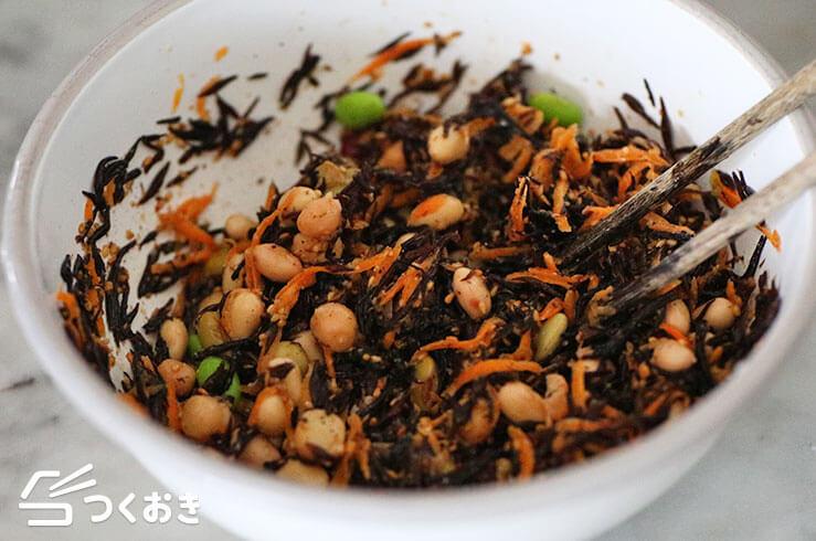 お豆とひじきの健康サラダの手順写真その2