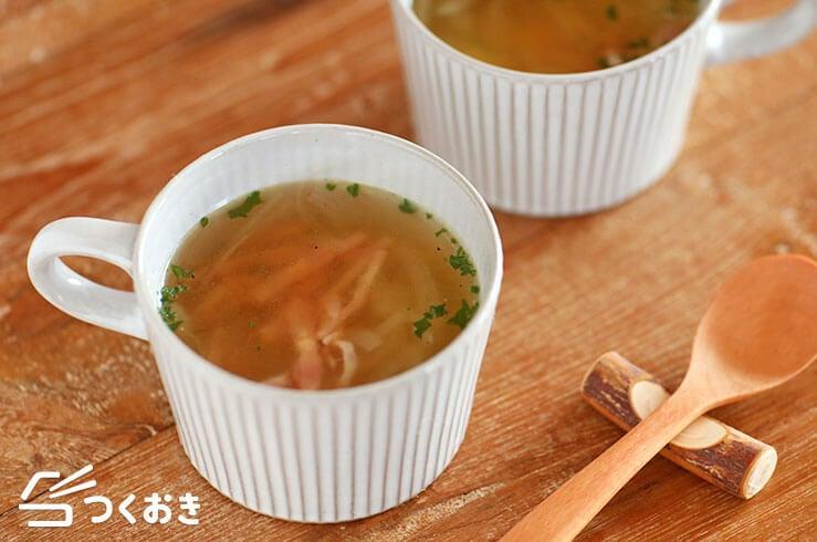 レンジたまねぎコンソメスープの料理写真