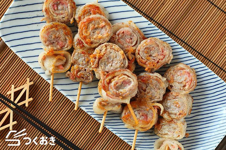 豚バラ紅しょうがのくるくる巻きの料理写真