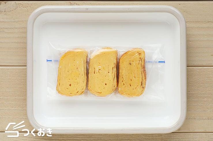 卵焼きの冷凍写真