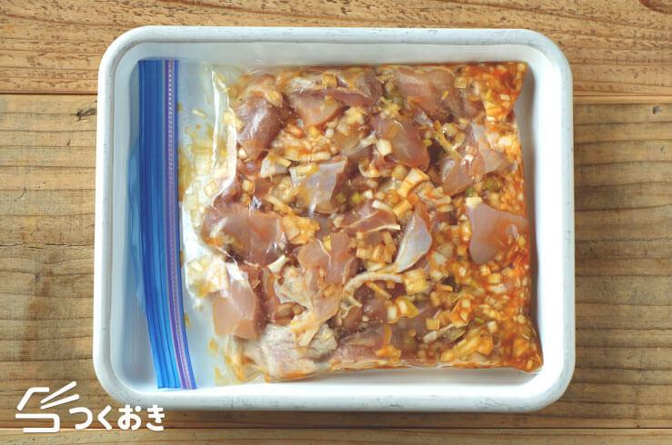 鶏肉のラー油しょうゆ炒めの手順写真その2