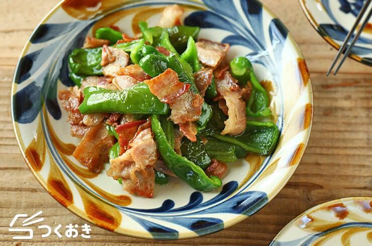 豚バラとピーマンのうま塩炒めの料理写真