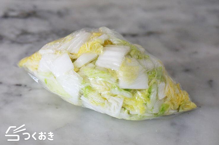 白菜からし漬けの手順写真その1