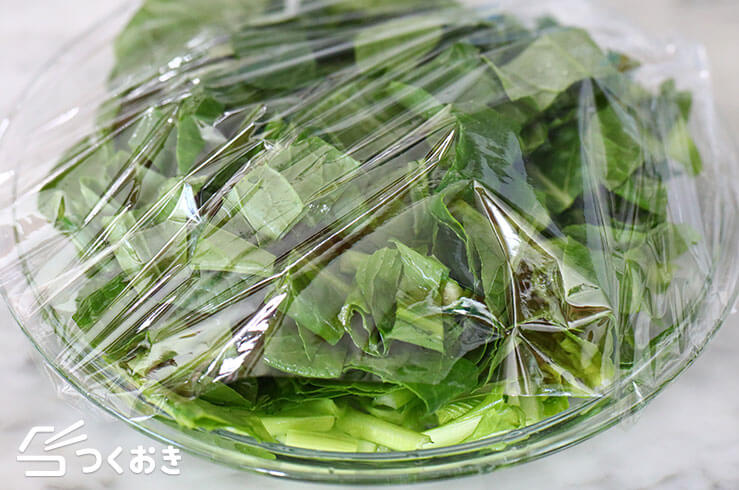 小松菜チャンプルーの手順写真その2