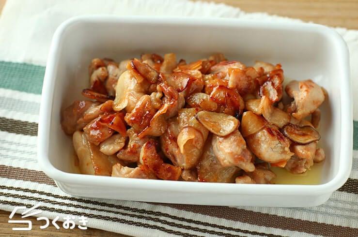 鶏肉のガーリックバター炒めの料理写真