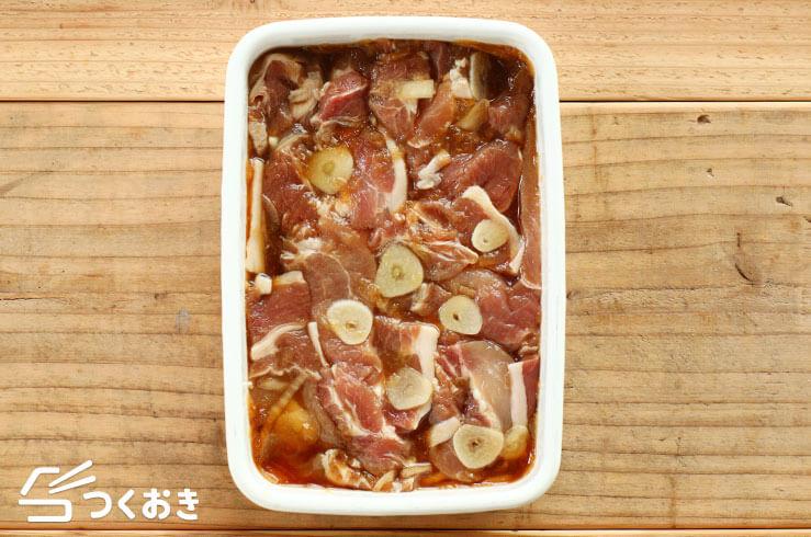 豚肉のガーリック醤油ソテーの手順写真その1