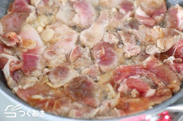 豚肉のガーリック醤油ソテーの手順写真その2